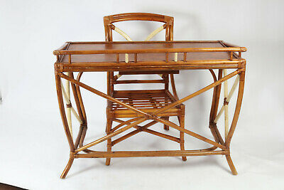 Vintage 1930s Califirnia & Hawaiian style old letter Table & Chair set, Patina!!