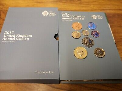 2017 UK Annual 13 coin collection set inc Jane Austin £2 & Canute & Windsor £5