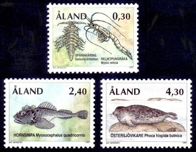 Aland 1997 Animals, Sea, Marine Ice Age Survivors, MNH/UNM