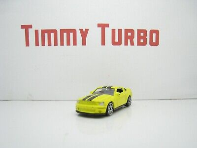 Ford Shelby Mustang Yellow Black Stripe Gt 500 China 67Mm Long 30