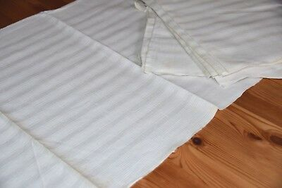 12 Pcs Old Linen Towels Kitchen Towels Striped White