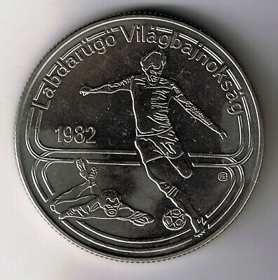1982 Hungary 100 Forint coin : World Cup