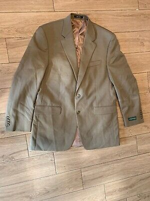 Ralph Lauren Men's Tan 100% Wool Silk Linen Sports Coat Blazer 42 L