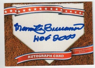 MARTY BRENNAMAN Signed Homeplate Autograph Card - Hall of Fame HOF Auto Reds