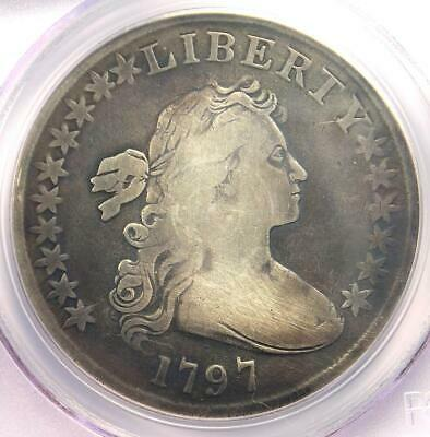 1797 Draped Bust Small Eagle Silver Dollar $1 - PCGS Genuine - VG / Fine Details