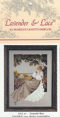 Lavender and Lace  Nantucket Rose  cross stitch pattern  LL20