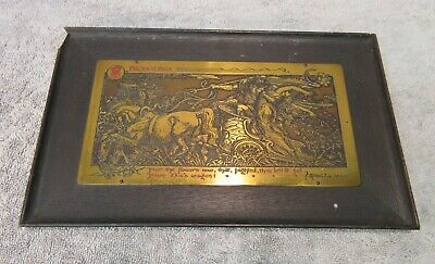 Rutledge Brass Etching - Proserpina (vintage/antique Greek myth art/scene wood)