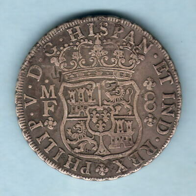 Mexico. 1736-MF 8 Reales - Pillar Dollar..  Several chopmarks..  VF