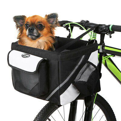 Fashion Bicycle Basket Bag Bike Front Handlebar Bag Box Pet Dog Cat Carrier L1B4