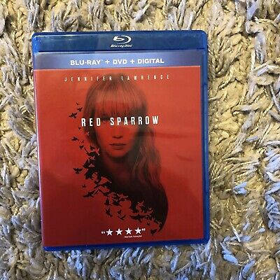 RED SPARROW  (2018, Blu-ray + DVD) Jennifer Lawrence Like New (No Digital Copy)