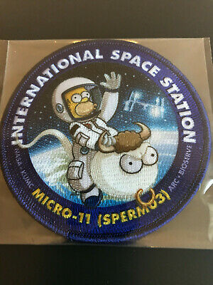 MICRO-11 SPERM-03 SpaceX CRS-14 Resupply Homer Simpson Internal Patch NASA ISS