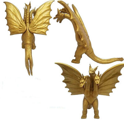 """Godzilla Movie King of the Monster Ghidorah 3 Heads Gold Dragon 7"""" Action Figure"""