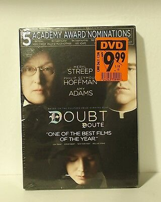 Doubt (DVD, 2009, Canadian) Meryl Streep NEW AUTHENTIC REGION 1 with SLIPCOVER