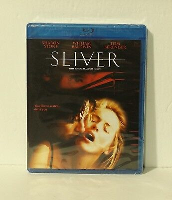 Sliver (Blu-ray Disc, 2013, Canadian Bilingual) Sharon Stone NEW REGION A