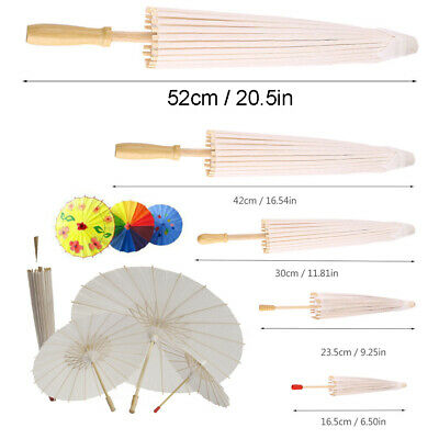 Paper Decoration Umbrella DIY Parasol Wedding Bridal Party Photo Cosplay Prop AU