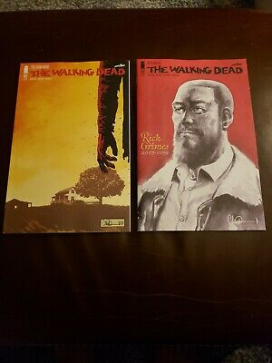 The Walking Dead #193 1st Print & 192 Rick Grimes Memorial Issue NM+ 2 Book Lot