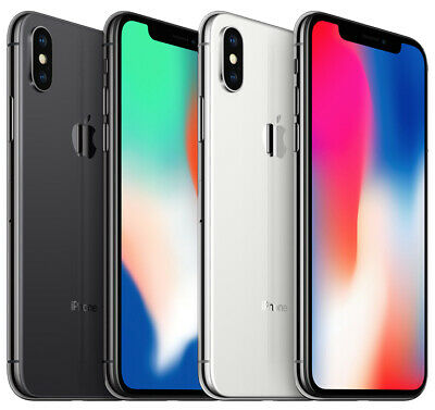 New Sealed Apple iPhone X 10 Factory Unlocked Space Gray / Silver 64GB / 256GB