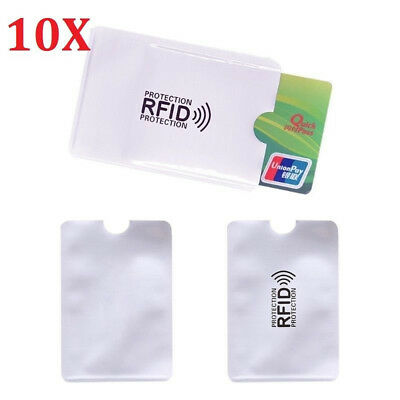 10 Card RFID Blocking Contactless Debit Credit Card Protector Sleeve Wallet E7CX
