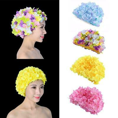 BLUE REEF Polyester Elasticated Swimming Hat Flower Four Petal 3D Look Synthetic