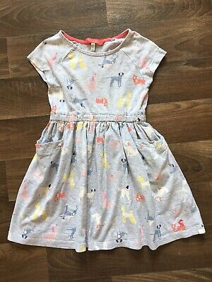 Joules Little Dress Dogs Age 3 Years 2-3 Girls Grey Yellow Pink Blue
