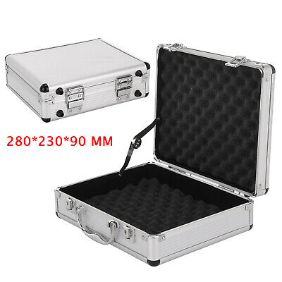 Large Hard Aluminium Flight Case Foam Lockable Tool Camera Gun Storage Carry Box