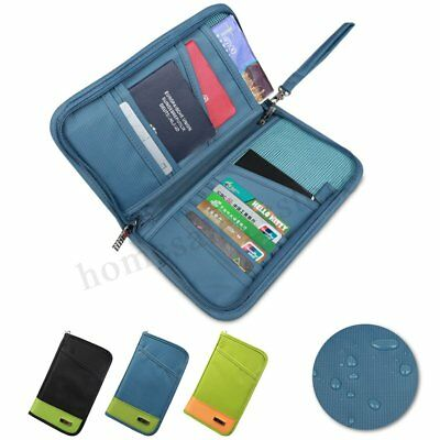 Travel Bag Wallet Purse Document Organizer Zipped Passport Ticket ID Card Holder