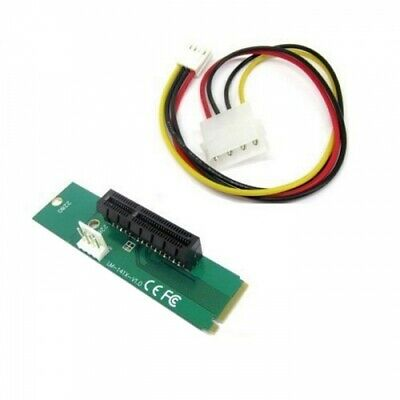 M.2 M Key Adapter Converter Card with Power Cable to PCI Express PCI-E 4X Female