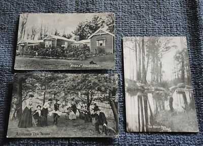 3 Cards Nyora Guest House Healesville Afternoon Tea 1911  Barred Cancel 521 #11