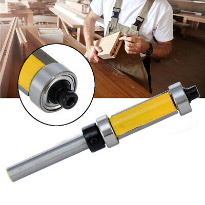 1/4'' Shank Top & Bottom Bearing Flush Trim Router Bit For Woodworking