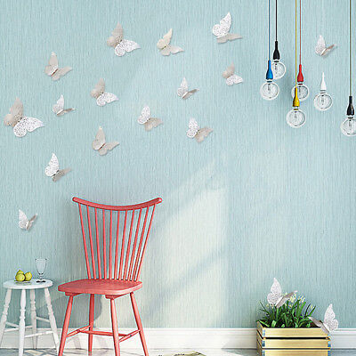 12Pcs 3D Hollow Wall Stickers Butterfly Fridge for Home Room Decoration Hot Sale