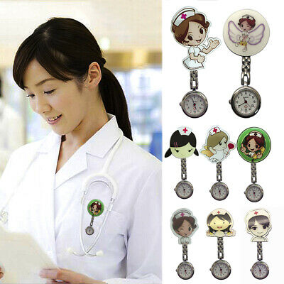 Nurse Watch Brooch Tunic Fob Nursing Nurses Pendant Pocket Watch Quartz Watch