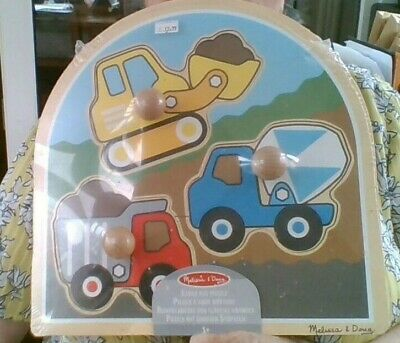Wooden Jigsaw Giant Three Piece Construction Vehicles