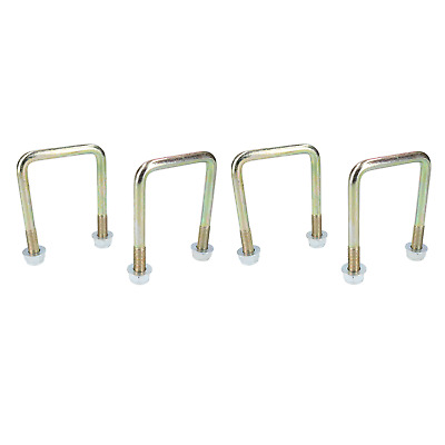 4 Pack M10 60mm x 90mm U-Bolt N-Bolt for Trailers with Nuts HIGH TENSILE