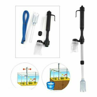 Battery Gravel Vacuum Cleaner Aquarium Fish Tank Cleaning Syphon Water Vac Kt Vp