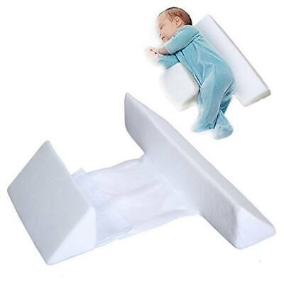 Newborn Baby Sleep Pillow Anti Roll Adjustable Width Cover Removable For 0-6 M