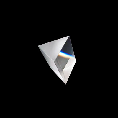 2piece 40*40*40mm Optical Glass K9 Triple Equilateral Triangular Prism
