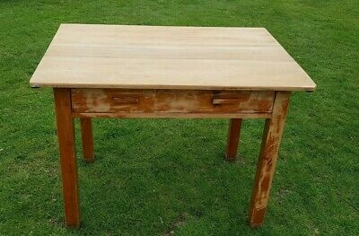 Antique Victorian Pine Drop leaf Table desk