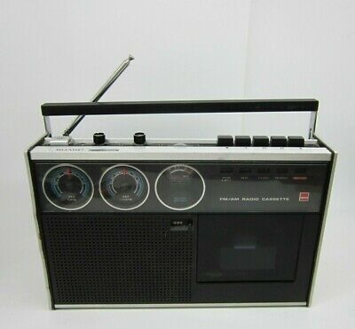 Sharp RD438H Portable Radio Cassette Recorder Round Dials 1970's Made in Japan