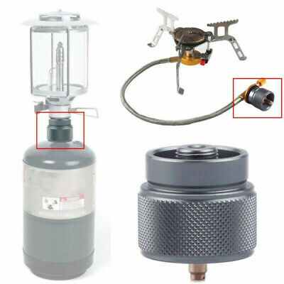 1X Adapter Camping Propane Small Gas Tank Adapter Input Lindal Output Stove 30mm