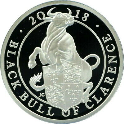 """Great Britain 2 pounds 2018, PROOF, """"The Queen's Beasts -Black Bull of Clarence"""""""