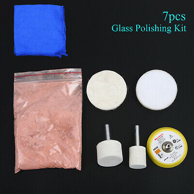 70g Cerium Oxide Windscreen Scratch Remover Glass Polishing Kit Backing Pad