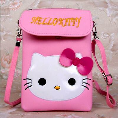 Cute Hello Kitty Phone Coin Bag Pouch Crossbody with Adjustable Strap Girls Gift
