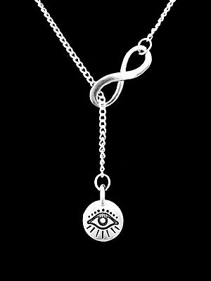Evil Eye Necklace Good Luck Protection Charm Lariat