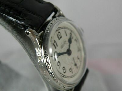 Serviced 1920` Elgin Men`s Black Enamel Art Deco Watch...extremely Clean