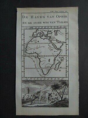 1776 Pluche Atlas rare Dutch edition map  AFRICA - Ophir