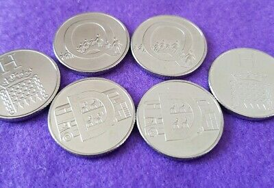 10p alphabet coins X 6  Uncirculated 2019