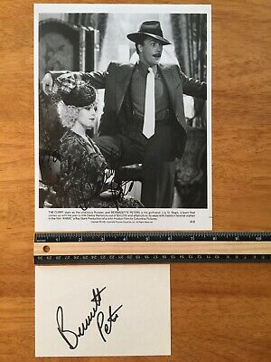 2 Burnadette Peters Hand Signed Autograph -A Collectors Must Have