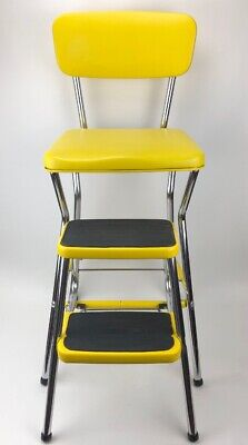 Remarkable Vintage Cosco Yellow 1 Step Foot Stool Stand Retro Mcm Mid Ocoug Best Dining Table And Chair Ideas Images Ocougorg