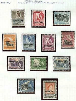 Mint & Used Qeii, Postage Dues & Officials K.u.t. Stamp Collection