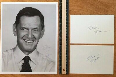 3 Tony Randall Odd Couple Hand Signed Autograph -A Collectors Must Have